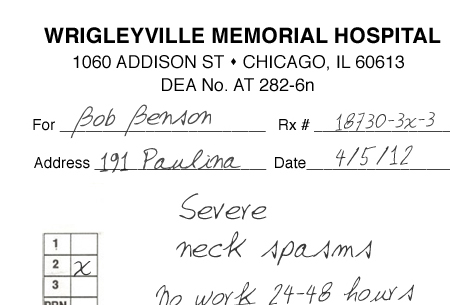 HereS A Fake Doctor Note To Get You Out Of Work For The Cubs Opener